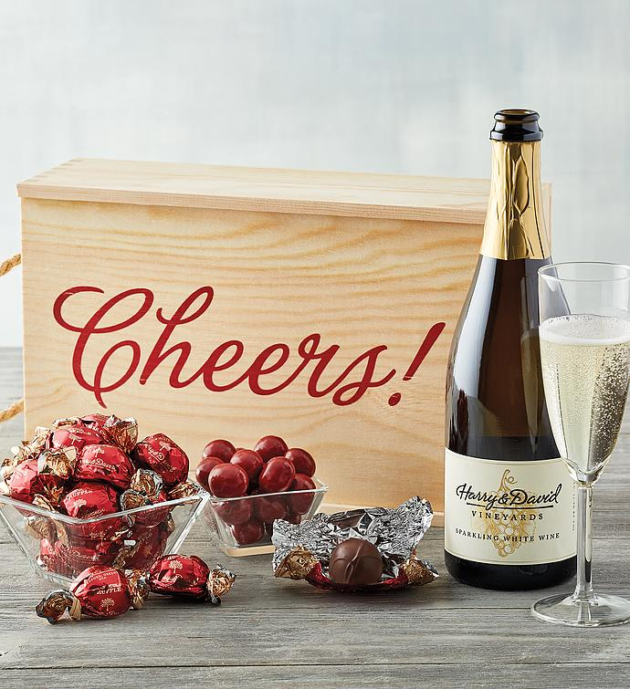 Sparkling Wine and Cheers Gift Box
