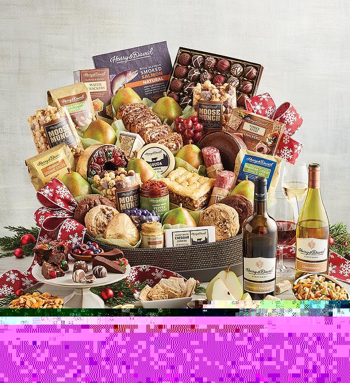 Supreme Hearthside Gift Basket with Wine