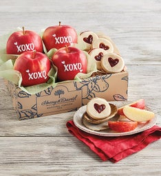 Valentines Day Apples and Cookies