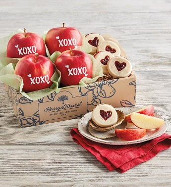Valentine's Day Apples and Cookies