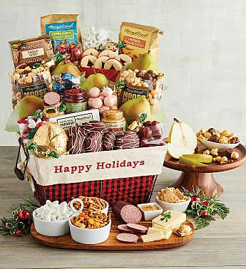 Happy Holidays Deluxe Basket