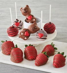 Valentines Day ChocolateCovered Strawberries and Cake Pops