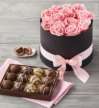 Magnificent Roses® Preserved Roses and Truffles
