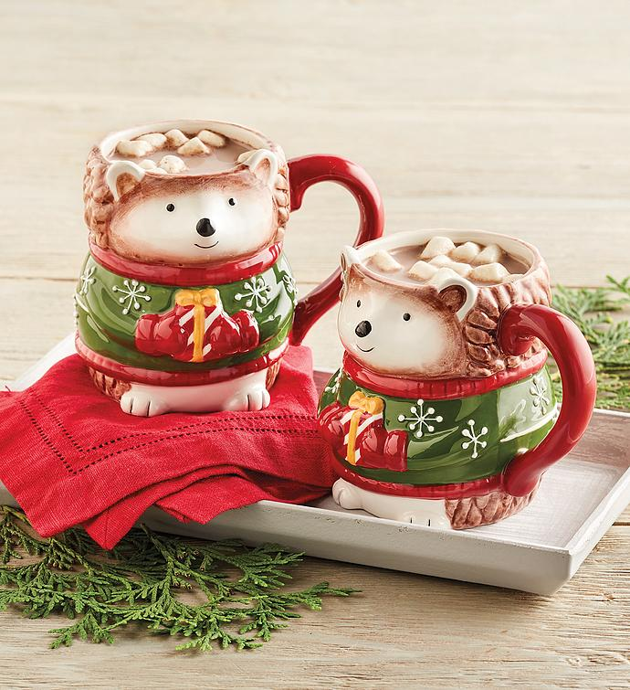 Holiday Hedgehog Mug Duo