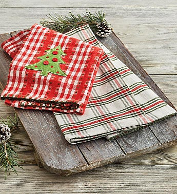 Jolly Tree Towels - Set of 2