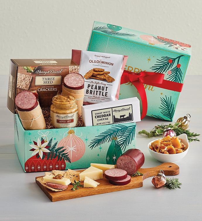Holiday Meat and Cheese Gift Box