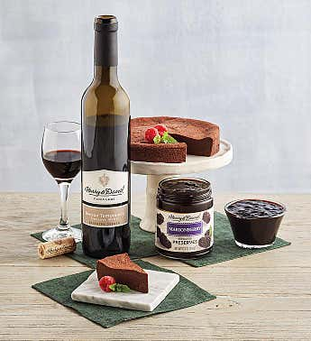 Chocolate Decadence Cake and Dessert Wine