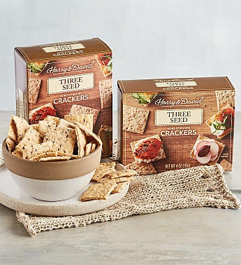 Three Seed Hors d'Oeuvre Crackers - 2 Pack