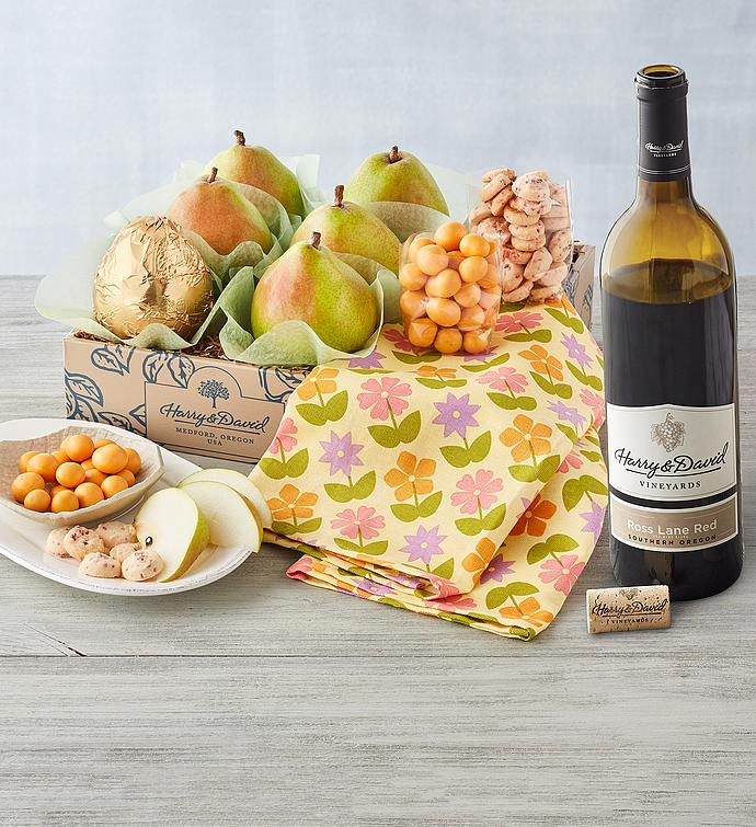 Classic Spring Gift Box with Wine