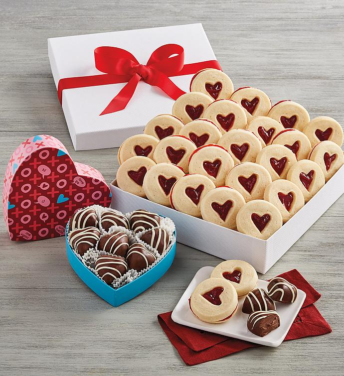 Heart Shortbreads with Truffles