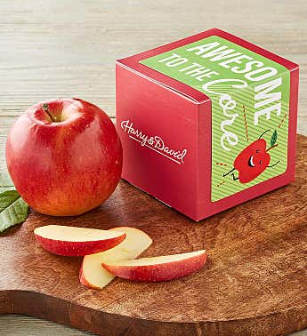 """Awesome to the Core"" Single Apple Gift"