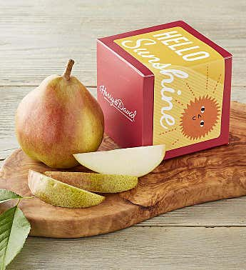 """Hello Sunshine"" Single Pear Gift"