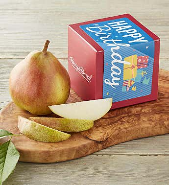 """Happy Birthday"" Single Pear Gift"
