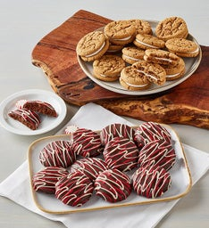 Ginger Cookies and Chocolate Peppermint Cookies