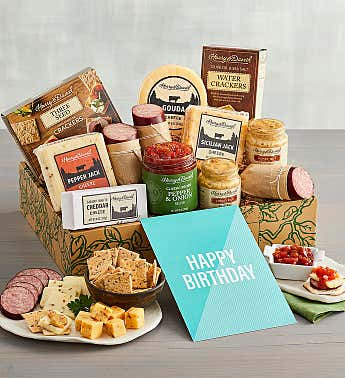 """Happy Birthday"" Meat and Cheese Gift Box"