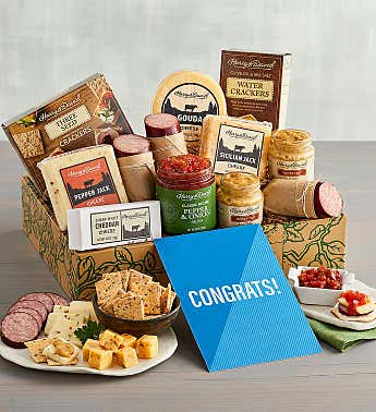 """Congratulations"" Meat and Cheese Gift Box"