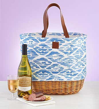 Summer Picnic Tote with Wine