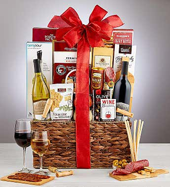Wine Lovers Wine Gift Basket