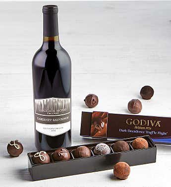 Godiva Dark Decadence Truffles with Wine