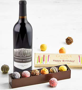 Godiva Birthday Truffles with Wine