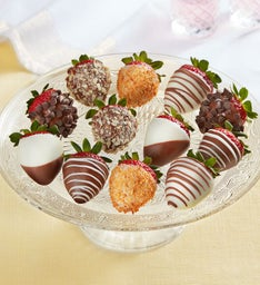 Deluxe Chocolate-Covered Strawberries – 12 Count