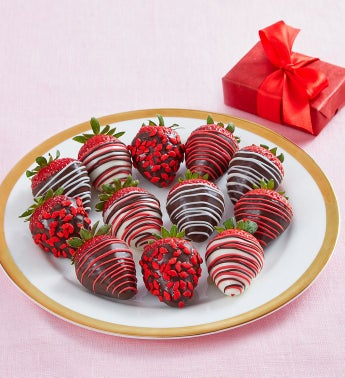 Cupid's Choice Chocolate-Covered Strawberries – 12 Count