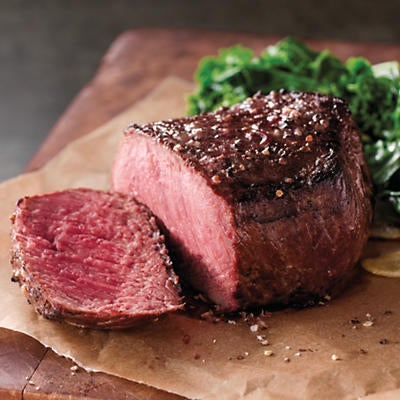 Stock Yards Filet of Top Sirloin - Four 6-Ounce USDA Prime