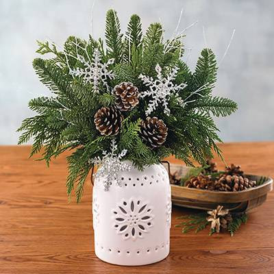 Image of Holiday Evergreen Centerpiece