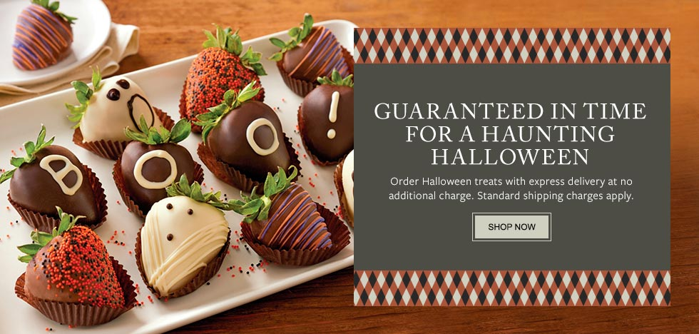 GUARANTEED IN TIME FOR A HAUNTING HALLOWEEN. Order Halloween treats with two-day delivery at no additional charge. Standard shipping charges apply. SHOP NOW