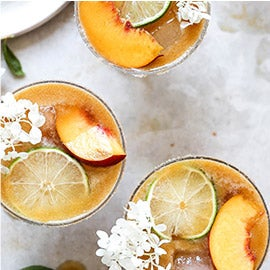 Elderflower and Peach Margarita