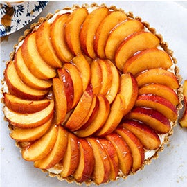 No-Bake Peach Tart