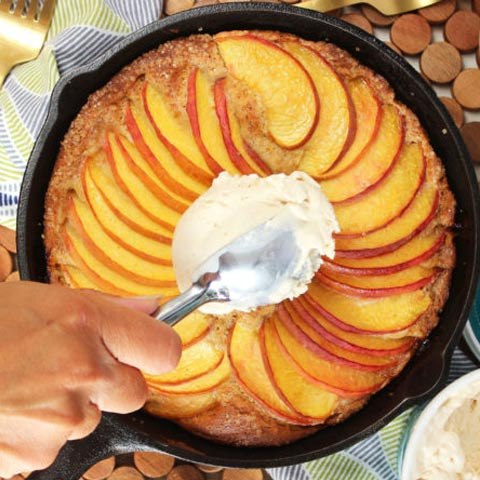 Simple Skillet Peach Cake Recipe