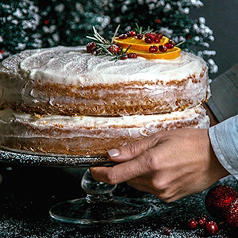 Orange Cake with Rum-Infused Frosting Recipe