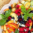Peach Panzanella Salad with Berries and Cucumbers Recipe thumbnail image 1