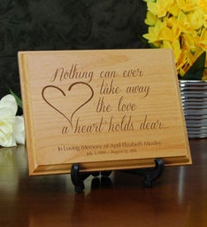 The Love a Heart Holds Dear Memorial Plaque
