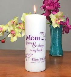 Forever My Mom Memorial Candle