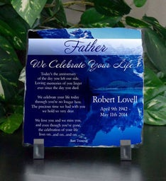 Father We Celebrate Your Life Small Memorial Plaque