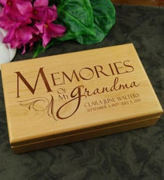 Memories of Grandma Keepsake Box