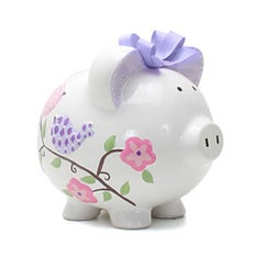 Personalized Hand-Painted Paper Bird Piggy Bank