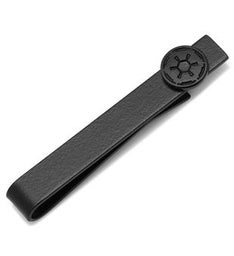 Satin Black Imperial Symbol Tie Bar