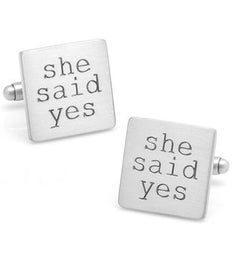 Wedding Series She Said Yes Cufflinks