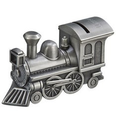 Personalized Metal Train Bank - Matte