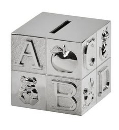 Personalized Metal Block Bank - Matte