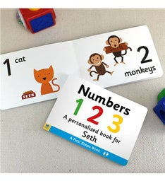 Personalized Learning Numbers Board Book