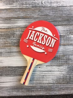 Customized Jackson Family Ping Pong Paddle