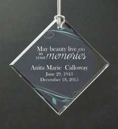 Personalized Your Memory Lives On Ornament