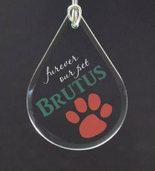 Personalized Furever Our Pet Memorial Ornament