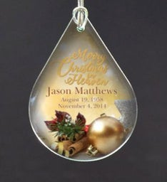 Personalized Merry Christmas In Heaven Ornament