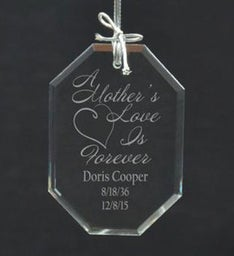 Personalized Memories of Mom Ornament