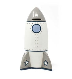 Personalized Roger The Rocket Piggy Bank